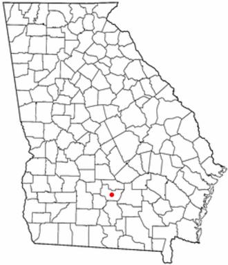 Ocilla, Georgia - Image: GA Map doton Ocilla