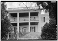 GENERAL VIEW AND WEST RIVERFRONT ELEVATION - Cherry Mansion, 101 Main Street, Savannah, Hardin County, TN HABS TENN,36-PITLA.V,1-2.tif