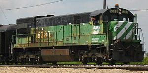 GE U30C - BN 5383 operating at the Illinois Railway Museum