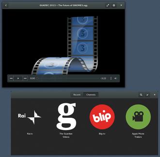 GNOME Videos - Image: GNOME Videos 3.12
