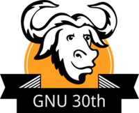 GNU 30th Ann Logo
