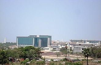 Geography of Hyderabad - Gachibowli; a suburb of Hyderabad.