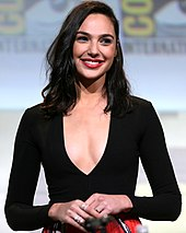 Upper body colour photograph of Gal Gadot in 2016.