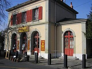 Chêne-Bourg Place in Geneva, Switzerland