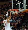Gary Johnson dunk, Texas Longhorns vs Navy Midshipmen.jpg