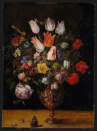 Gaspar van den Hoecke - Gaspar van den Hoecke, Flowers in a Vase, Oil on panel, 49.8 x 36.2 cm, first quarter 17th century. Brooklyn Museum