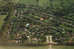 Gated community - A gated community near Ezeiza, a suburb of Buenos Aires, Argentina.