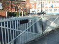Gates from the old dockland railway, Portsmouth - geograph.org.uk - 1742592.jpg
