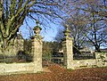 Gateway and pillars at Overacres Farmhouse - geograph.org.uk - 291971.jpg