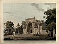 Gateway to a mosque, Chunar, Uttar Pradesh. Coloured aquatin Wellcome V0050483.jpg