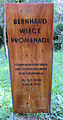 Gedenktafel Bernhard-Wieck-Promenade (Grunew) Bernhard Wieck.JPG