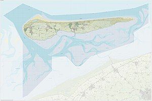 Ameland - Topographic map of Ameland, Dec. 2014