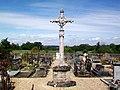 Genainville (95), croix de cimetière (MH).jpg