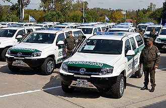 Argentine National Gendarmerie - Volkswagen Amarok of Gendarmería Nacional Argentina.