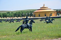 The former temporary palace of Genghis Khan on north grassland of the county.
