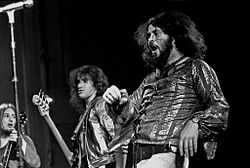 Gentle Giant 1974 in Hamburg(v.l.n.r. Gary Green, Ray Shulman und Derek Shulman)