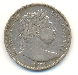 Great Recoinage of 1816 - A Bull Head George half crown dating from 1816.