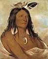George Catlin - Eé-shah-kó-nee, Bow and Quiver, First Chief of the Tribe - 1985.66.46 - Smithsonian American Art Museum.jpg