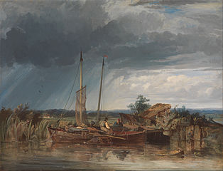 Two Fishing Boats on the Banks of Inland Water