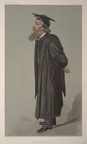 "Marlborough College - ""Marlborough College"". Caricature of George Charles Bell by Spy published in Vanity Fair in 1902."