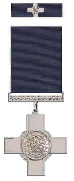 Olaf Schmid - George Cross and its ribbon bar