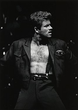 George Michael tijdens de Faith World Tour in 1988