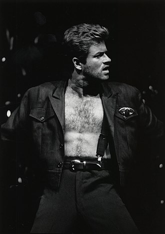 George Michael - Michael performing on stage during the Faith World Tour in 1988