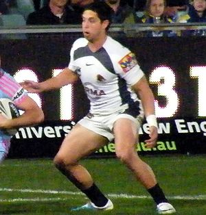 Gerard Beale - Beale playing for the Broncos in 2011