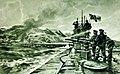 German U-Boat in the ice sea, postcard artwork by Willy Stower (33094647775).jpg