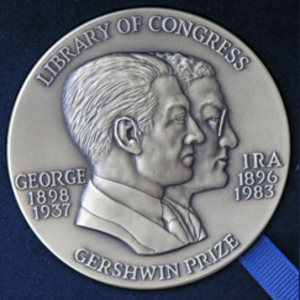 Gershwin Prize - Obverse of the 2007 Library of Congress Gershwin Prize for Popular Song medal awarded to Paul Simon
