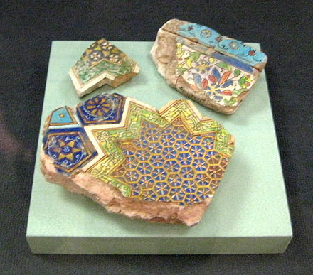 Tilework fragments of a palace in Sarai. Ghengisid's palace tile decor detail.jpg
