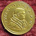 Giancristoforo romano, medaglia di giulio II con santuario di loreto, recto, 1509.JPG
