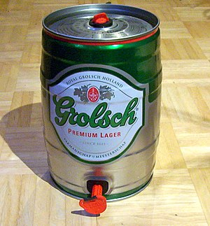 Keg - Mini keg of Grolsch beer.