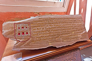 Gibraltar Constitution Order 1969 - The Gibraltar 1969 Constitution preamble engraved onto a stalactite at the Gibraltar Museum.