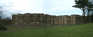 Gibside - The shell of Gibside Hall