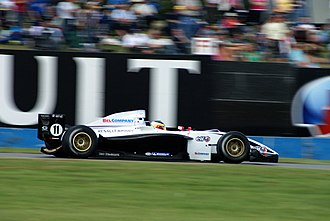 Giedo van der Garde - Van der Garde driving for Victory Engineering at the Donington Park round of the 2007 Formula Renault 3.5 Series season.