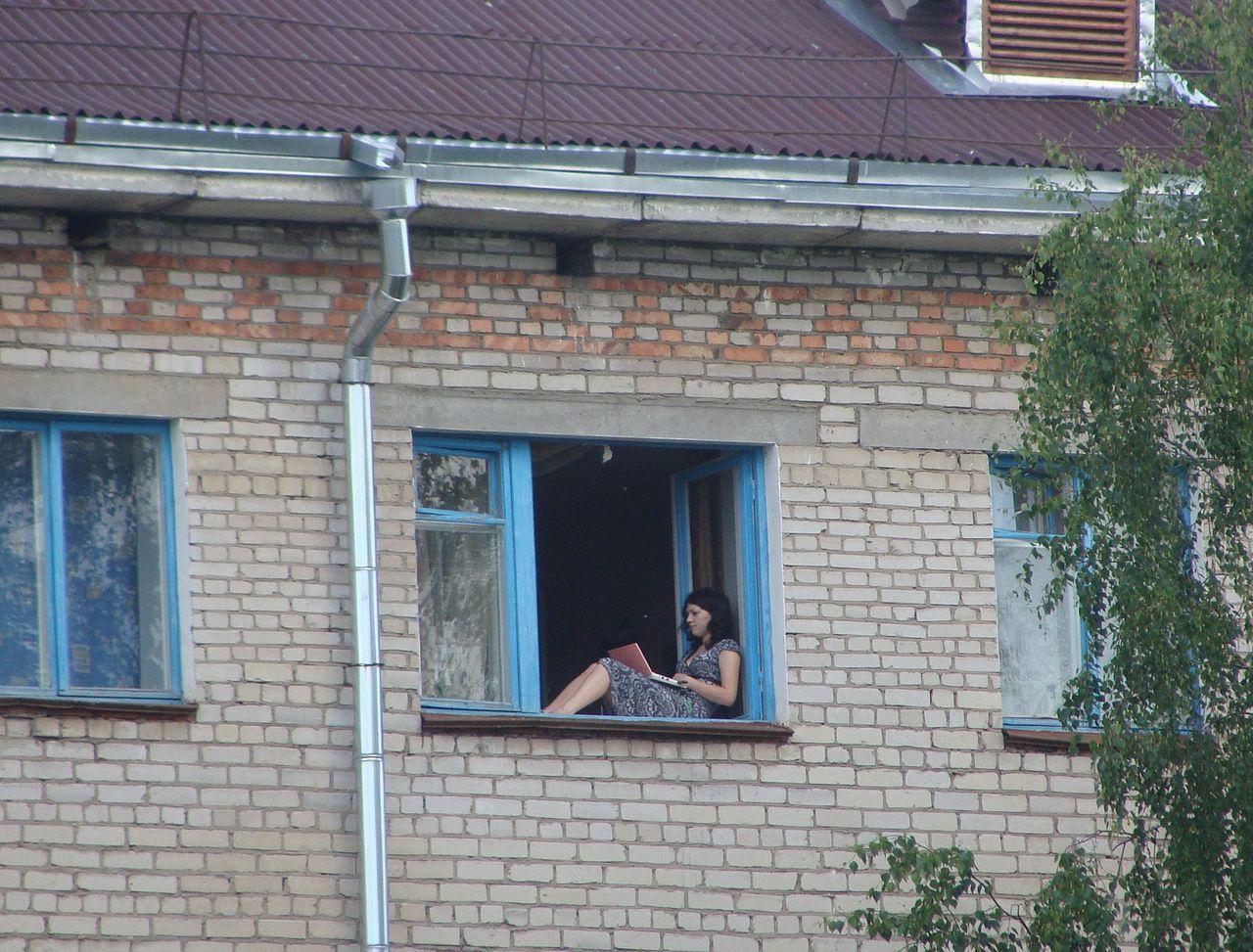 File:Girl Sitting On The Windowsill.JPG