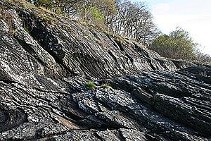 Glaciated rock - Image: Glaciated Rocks geograph.org.uk 1273270