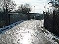Glade Lane looking towards foot bridge over the Brentford Branch Line - geograph.org.uk - 1165287.jpg