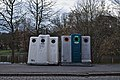 Glass salvage containers in front of Park Tenreuken during the day (Auderghem, Belgium, DSCF2709).jpg