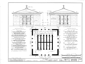 Glover Family Mausoleum, Riverview Cemetery, Demopolis, Marengo County, AL HABS ALA,46-DEMO,2- (sheet 1 of 4).png