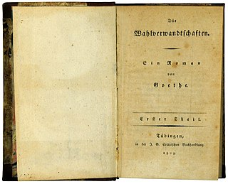 <i>Elective Affinities</i> novel by Johann Wolfgang von Goethe