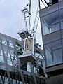 Going up, One New Change EC4 - Carved Lion in Egyptian style arrives in style.jpg