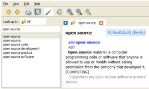 GoldenDict screenshot.