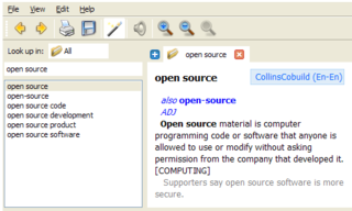 GoldenDict Multilingual dictionary free software