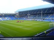 Goodison Park, the home of Everton F.C
