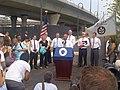 Governor Patrick, North Bank Pedestrian Bridge, July 13, 2012 (7563533400).jpg