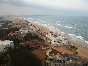 Gopalpur, Odisha - Gopalpur Beach Aerial View from Light House North Side