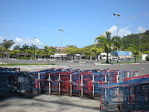 2009 French Caribbean general strikes - A deserted shopping centre in the Bas du Fort district of Le Gosier, which was blockaded by strikers.
