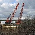 Grab Cranes on Quay at New Holland Dock - geograph.org.uk - 1716236.jpg